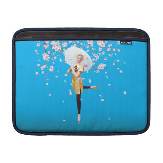 Ballerina in Cherry Blossoms MacBook Sleeve