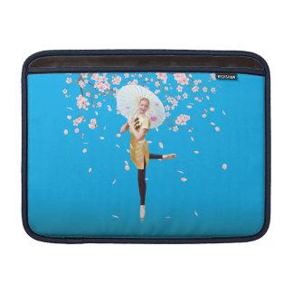 Ballerina in Cherry Blossoms MacBook Sleeve