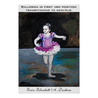 Ballerina in first arm position poster