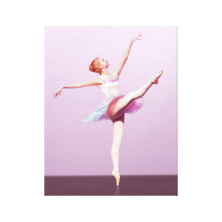 Ballerina in Pink and Lavender Canvas Print