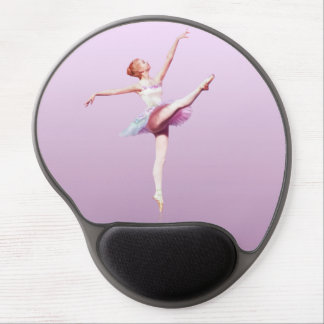 Ballerina in Pink and Lavender Gel Mouse Pad