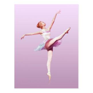 Ballerina in Pink and Lavender, Monogram Postcard