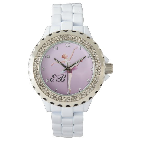 Ballerina in Pink and Lavender, Monogram Watch