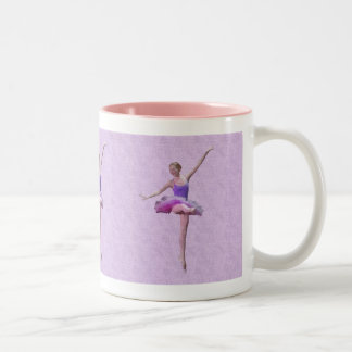 Ballerina in Pink and Lavender Two-Tone Coffee Mug