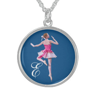 Ballerina in Pink and White with Monogram Jewelry