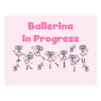 Ballerina in Progress T-shirts and Gifts Postcard