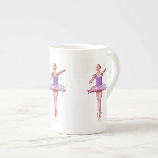 Ballerina in Purple and White Bone China Mug