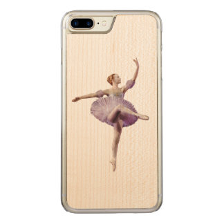 Ballerina in Purple and White Carved iPhone 8 Plus/7 Plus Case