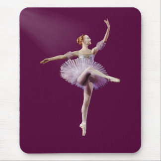 Ballerina in Purple and White Customizable Mouse Pad