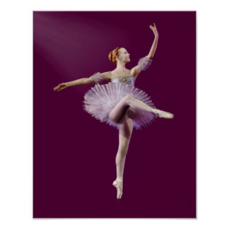 Ballerina in Purple and White Customizable Poster