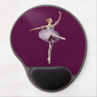 Ballerina in Purple and White Gel Mouse Pad