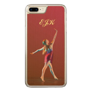 Ballerina in Red, Monogram Carved iPhone 8 Plus/7 Plus Case