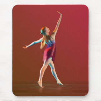 Ballerina in Red Mouse Pad