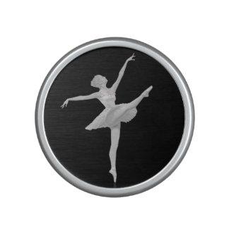 Ballerina in Silver and Black Bluetooth Speaker