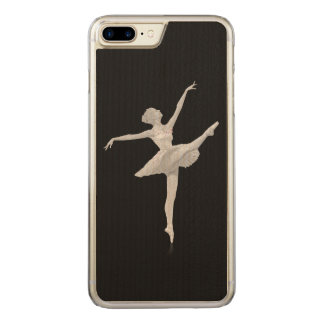 Ballerina in Silver and Black Carved iPhone 8 Plus/7 Plus Case