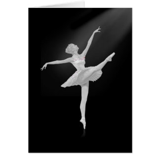 Ballerina in Silver and Black Customizable Card