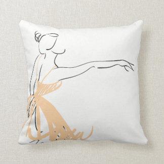 Ballerina in Soft Peach Cushion