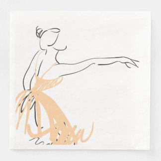 Ballerina in Soft Peach Paper Napkins