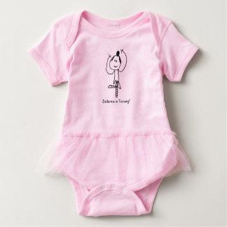 Ballerina in training baby bodysuit