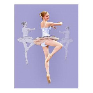 Ballerina in Triplicate, Postcard
