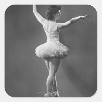 Ballerina in Tutu Square Sticker