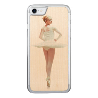 Ballerina in White Carved iPhone 8/7 Case
