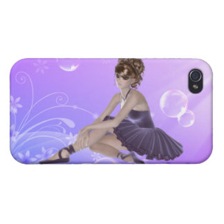 Ballerina iPhone 4 Matte Finish Case, Lilac iPhone 4/4S Covers