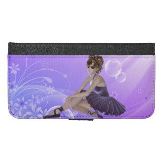 Ballerina iPhone 6/6s Plus Wallet Case, Lilac
