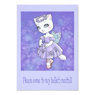 Ballerina Kitty Invitation