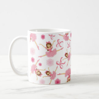 Ballerina Leaping in Pink Coffee Mug