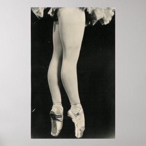 BALLERINA LEGS POSTER