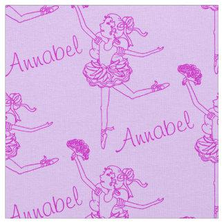 Ballerina line art named purple fabric