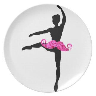 Ballerina Moustache Plate