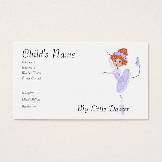Ballerina Mummy/Daddy Cards