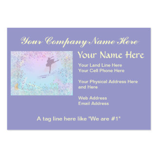 Ballerina, Music, Cat, Horse fantasy for girls Pack Of Chubby Business Cards