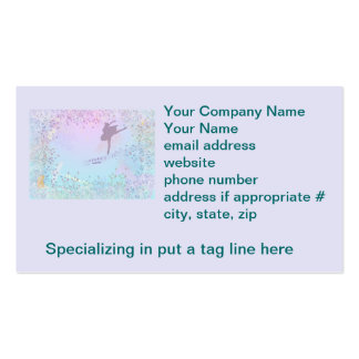 Ballerina, Music, Cat, Horse fantasy for girls Pack Of Standard Business Cards