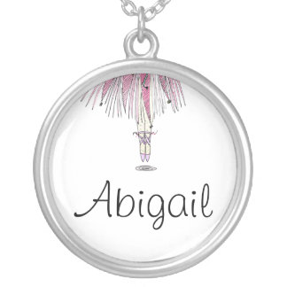 Ballerina Necklace With Name ABIGAIL