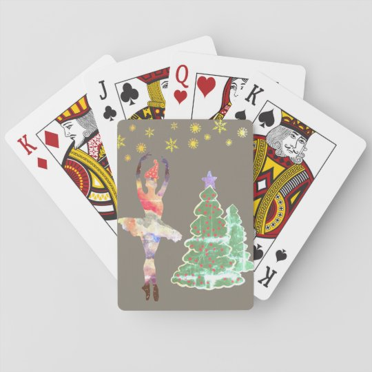 Ballerina New Year Classic Playing Cards