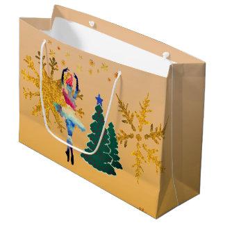 Ballerina New Year Custom Gift Bag - Large, Glossy