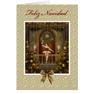 Ballerina Nutcracker Spanish Feliz Navidad Card