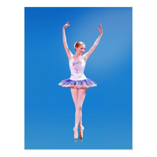 Ballerina On Point  in Purple and White Postcard