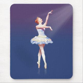 Ballerina On Pointe in Spotlight Mouse Pad