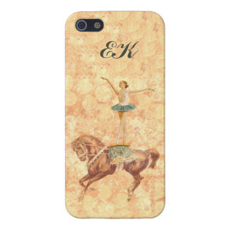 Ballerina On Pointe on Horseback, Monogram iPhone 5 Cases