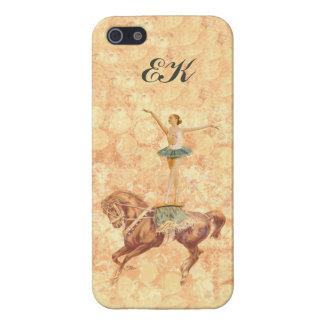 Ballerina On Pointe on Horseback, Monogram iPhone 5 Cases