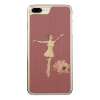 Ballerina On Pointe with Daisies Carved iPhone 8 Plus/7 Plus Case