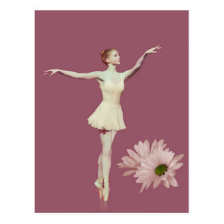 Ballerina On Pointe with Daisies Customizable Post Cards