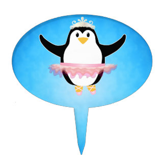 Ballerina Penguin Cake Toppers