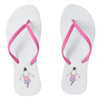 ballerina penguin funny slippers flip flops
