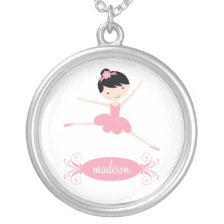 Ballerina Personalized Silver Necklace