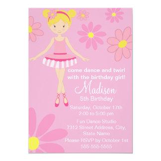 Ballerina Pink Dance Party Birthday Invitation